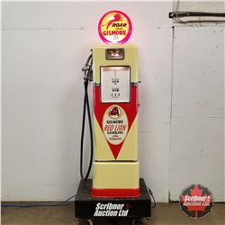 Restored Gilmore Red Lion Gas Pump - SF Bowser & Co. Inc. (7' with Globe) (Glass Globe is Reproducti