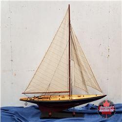 "Model Sail Boat (48""H)"