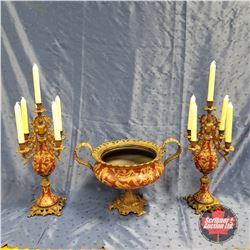 Candle / Vase Set 1950