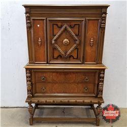 """Walnut Cabinet 1960 (65""""H x 39""""W x 18""""D)"""