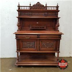 """Walnut Marble Top Buffet 1880   (73""""H x 51""""W x 20""""D)"""