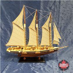 "Model Sail Boat (24""H)"