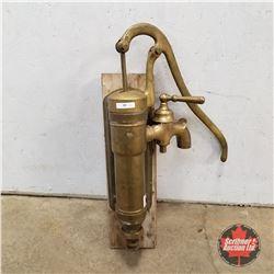 Brass Pump (w/Shut off Valve)