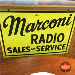"Marconi Radio Sales & Service - Metal Sign (Double Sided)   14"" x 20"""