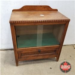 "Oak Tea Cabinet 1920   (31""H x 26""W x 15""D)"