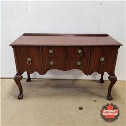 Side Board w/Lion Pulls & Large Ball & Claw Foot