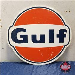 "Sign: GULF (Poly)   30"" x 32"""