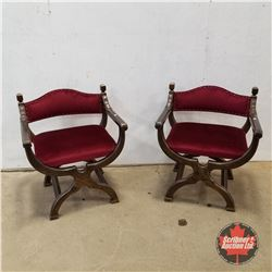 Pail of Italian Renaissance Parlour Chairs (Red) 1930