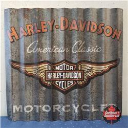 "Harley-Davidson Corrugated Sign  31""x33"""