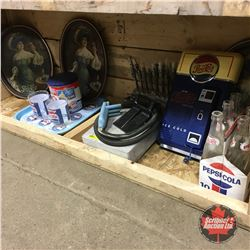 Large Pepsi Collection (Dispenser, Wall Phone, Trays, Tin, Tumblers, Carrier & Bottles)
