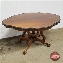 """Scalloped Dining Table     (30""""H x 54""""L x 41""""D)"""