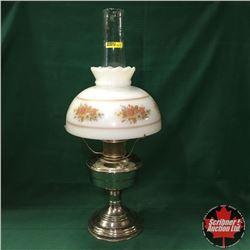 Aladdin Lamp - Chrome Base - Model 12 Burner - With Chimney & Shade