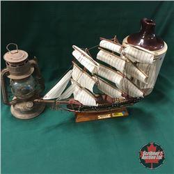 Trio: Ship, Lantern & Jug