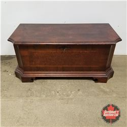 """Drop Front Bench (Inlaid Wood)    (18""""H x 38""""W x 14""""D)"""