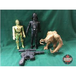 "STAR WARS Vintage Collectibles: Action Figures (3): Darth Vader 15"" & C3PO  12"" & Rancor Monster 9"""