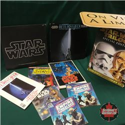 STAR WARS Vintage Collectibles: Books, Albums, Video Store Signage (10 Items)