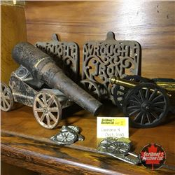 2 Cannons & Cast Iron Pieces +