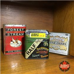 Tobacco Tin Trio: Forest & Stream, Buckingham, Between the Acts