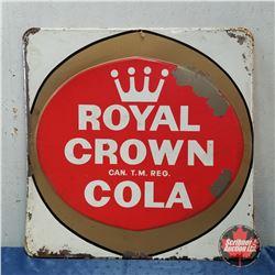 """Royal Crown Cola"" Tin Sign 35"" x 35"""