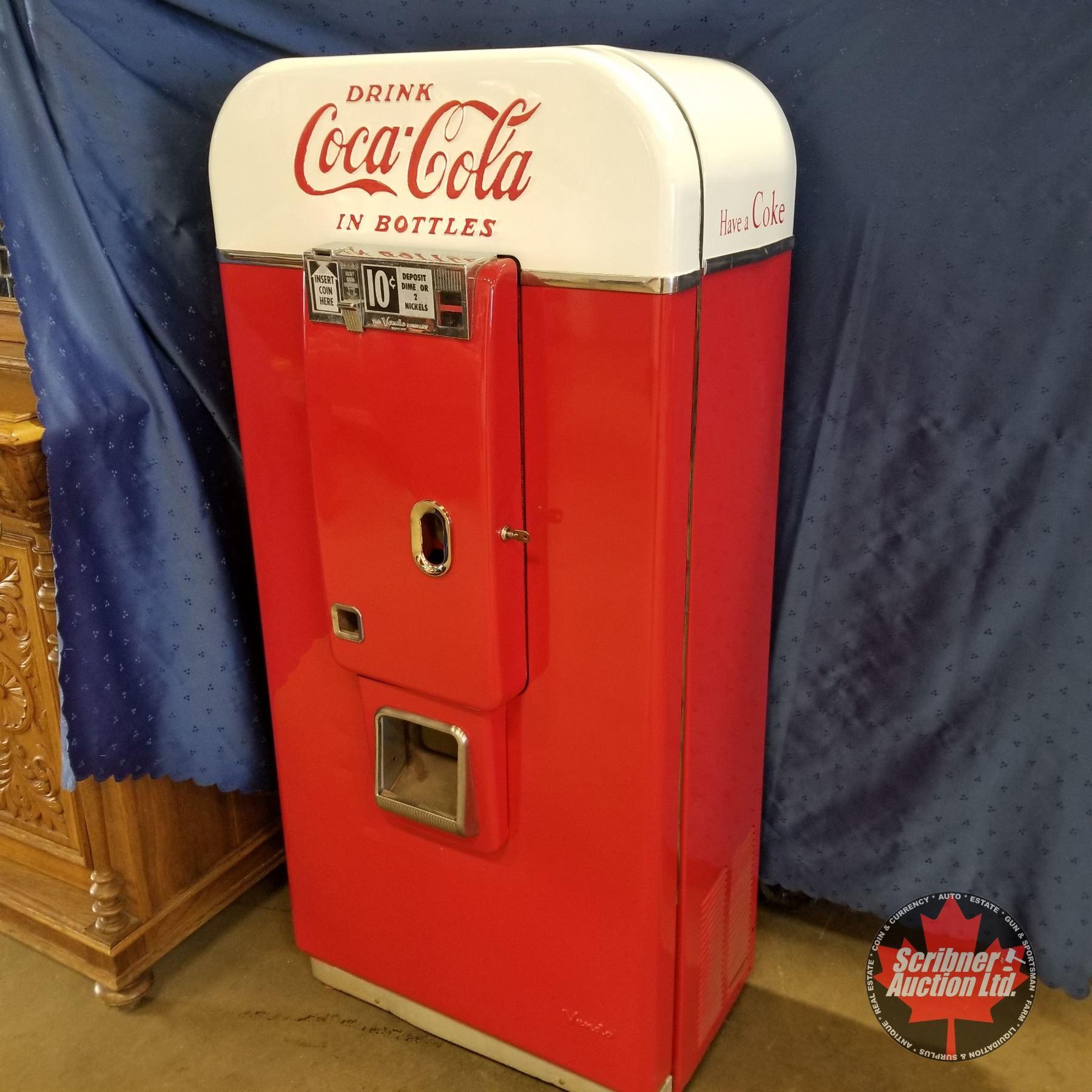 Free Bonus! Working Details about  /Coke Coca Cola Vendo 80 V-80 Soda Vending Machine Rare