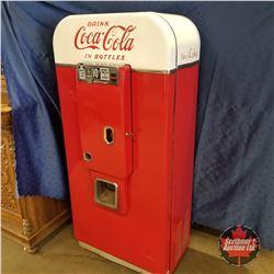"""Drink Coca-Cola In Bottles"" Vendo 80 Coke Machine (59""H x 27""W x 19""D)"