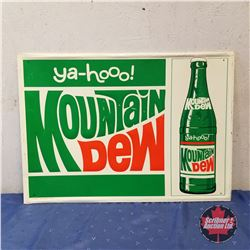 "Ya-Hoo! Mountain Dew Tin Sign 1970   (19"" x  27"")"
