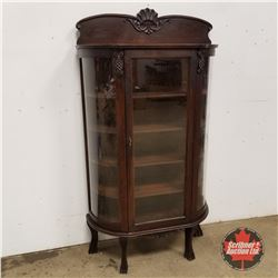 """Double Curve China Cabinet   (65""""H x 36""""W x 12""""D)"""