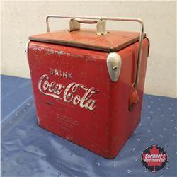 """Small Coca-Cola Picnic Cooler   (14""""H x 11.5""""W x 9""""D)"""