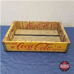 Coca-Cola Wooden Flat - Yellow   (4.5 H x 18 W x 12 D)