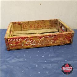 Coca-Cola Wooden Flat - Red   (4.5 H x 18 W x 12 D)