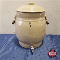 5 Gallon Water Cooler Crock w/Lid