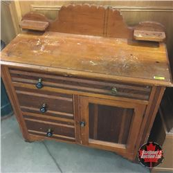Washstand / Commode   (36 H x 36 W x 16 D)