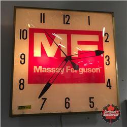"""Massey Ferguson Light Up Wall Clock  (15"""" x 15"""")"""