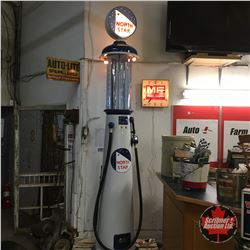 North Star Visible Gas Pump - Model 550 (Restored) (10' with Globe) (Glass Globe is Reproduction) (C