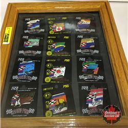 Racing Pin Collection (12) Framed