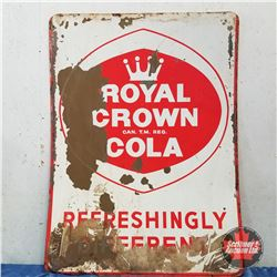 "Royal Crown Cola - Tall Advertising Sign Tin  48"" x 35"""