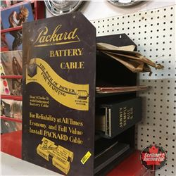 """Packard Battery Cable"" Counter Display (with Manuals, Books, etc)  (16""H x 13""W x 12""D)"