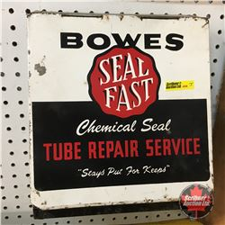 """Bowes Seal Fast Tube Repair"" Shop Storage Metal Box  (10""H x 10""W x 7""D) (w/Contents)"