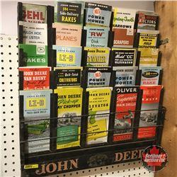 """""""John Deere"""" Pamphlet Store Display Rack w/Brochures!   (23""""H x 21""""W x 2""""D)"""