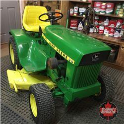 1968 John Deere 110 Ride On Lawn Tractor