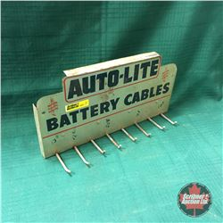 """""""Auto-Lite Battery Cables"""" Store Display Rack   (6""""H x 12""""W x 3""""D)"""