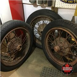 "21"" Wire Spoke Tires Rims & Tires (3)"