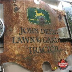 "John Deere Lawn & Garden Tractor - Double Sided - Metal Sign (Cut)  (42"" x 42"")"