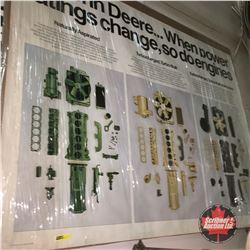 "John Deere Engines Advertising Poster (48"" x 38"")"