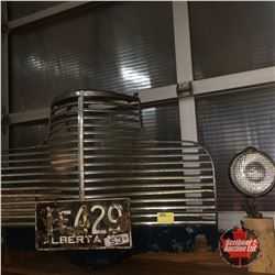 Vintage Chevy Grill w/License Plate & Light