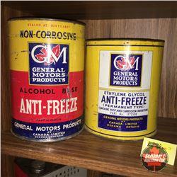 GM Anti Freeze Tins (2)