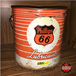 Phillips 66 Lubricant Grease Pail