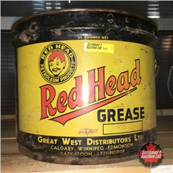 25lb Grease Pail: Red Head Grease