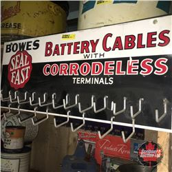 """""""Bowes Seal Fast - Battery Cables with Corrodeless Terminals"""" Store Display Rack 8"""" x 20"""""""