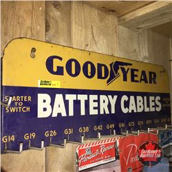 """""""Goodyear Battery Cables"""" Store Display Rack  7""""x 20"""""""